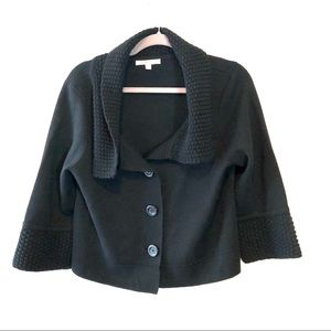 CAbi JACKIE O CROPPED BLACK CARDIGAN SWEATER